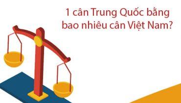 1 cân Trung Quốc bằng bao nhiêu cân Việt Nam? Đơn vị quy đổi