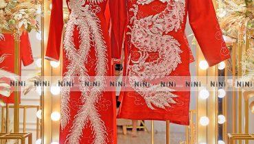 Top 10 mẫu áo dài cưới màu đỏ đơn giản mà đẹp ấn tượng 2021